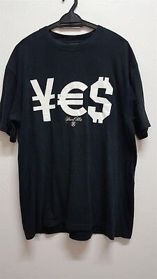 Yes Hard Hit Hardhit hip hop Currency Logo Yen Euro Dollar Black T (Euro Hip Hop)