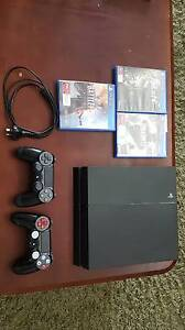Playstation 4 - Hardly used - 2 controllers and 3 games Sturt Marion Area Preview
