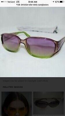 CHRISTIAN DIOR Dolly Purple/Green Sunglasses
