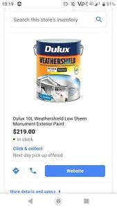 Dulux- Weathershield 10 litres (colour-monument