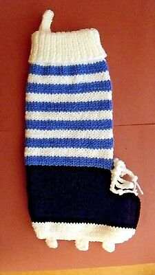 Hand Knitted Football Boot Christmas Sock - Halloween Soccer Socks