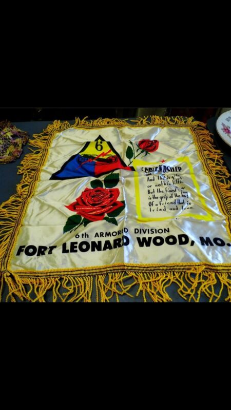 2 War Time Pillowcases Soldiers would send home to loved ones.