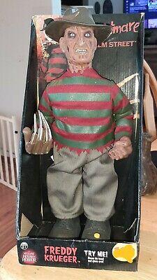 Nightmare on Elm Street Freddy Krueger talking animated doll figure Rare!!