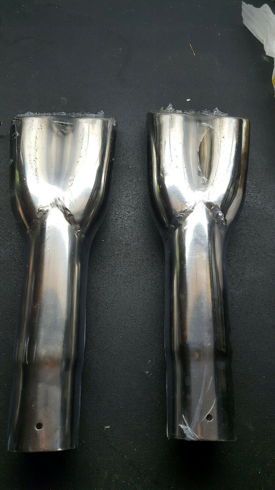 NEW DUAL EXHAUST PAIR ROLLED TIPS MUSTANG COUGAR MACH 1 1967 1968 1969 MACH 1