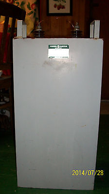 Two 2 Huge Ge High Voltage Oil Capacitor 230uf 7000v Power Supply Filter Ham