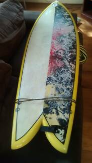 """Short board Fish Surfboard 5'10"""" Fortitude Valley Brisbane North East Preview"""
