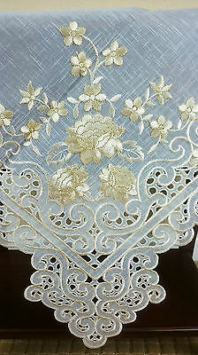 Embroidered Rose Cutwork 33