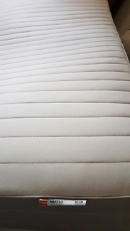 """Queen mattress ikea """" HAFSLO """" CLEAN AND COMFY. May deliver"""