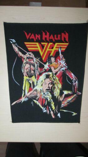 1 HUGE JEAN JACKET BACK PATCH CREST VAN HALEN ROCK N ROLL METAL MUSIC .