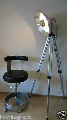 Tripod Spotlampe Strahler Aluminium Stativ Foto Lampe verspiegelte Glühbirne