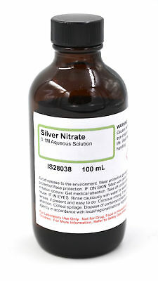 Silver Nitrate Solution 0.1m 100ml - The Curated Chemical Collection