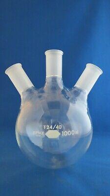 Kimax 1000ml Round Distilling Flask 3 Neck 2440