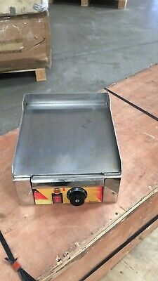 Used Commercial Home Electric Countertop Flat Cook Griddle Grill Iron Machine
