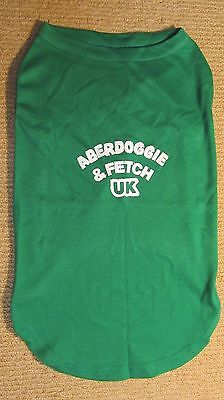 """NEW Miracle Pets Aberdoggie & Fetch UK Dog T-Shirt 18"""" XXL Green Apparel And!!!!"""