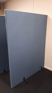 2  180cm x 140 Blue Office Partitions Mitcham Whitehorse Area Preview