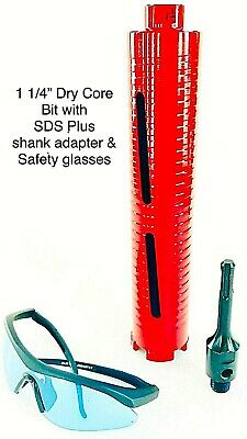 Sds Plus Shank Adapter With 1 14 Dry Core Bit For Use On Rotary Hammer Drill