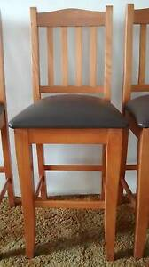 Solid timber bar stools Lake Heights Wollongong Area Preview