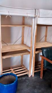 wooden storage shelves x2 Lutwyche Brisbane North East Preview