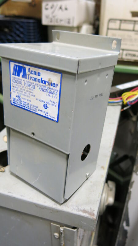 Acme T-1-81048, .100 KVA, 1 Phase, 120/240x12/24 Volt, Transformer- T313