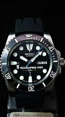 SUBMARINER DIVERS WATCH *MODDED with SEIKO NH36 Movement *STUNNING Ceramic Black