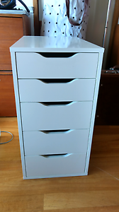 White Ikea Alex office drawers Theodore Tuggeranong Preview