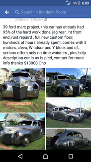 1939 ford mercury, blank canvas ready to be built