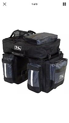 Traveller Pannier - M-Wave Traveller Pannier Tear-Proof Polyester Reflective Stripes Black 3-Piece