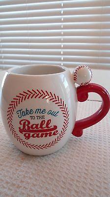Baseball Coffee Cup Mug Take Me Out To The Ball Game Ballgame Ceramic 16 Oz