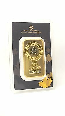 1 Oz Rcm Royal Canadian Mint Gold Bar  9999 Fine Sealed In Assay