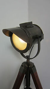 Industrial style vintage movie spot light floor standing for Lampe de bureau style industriel