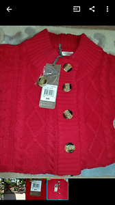 Regatta by myer Ladies claret red cable cardigan Sz 12 Drummoyne Canada Bay Area Preview