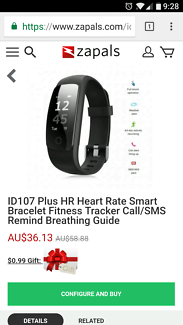 ID107 PLUS HR FITNESS WATCH $20 (2 available)