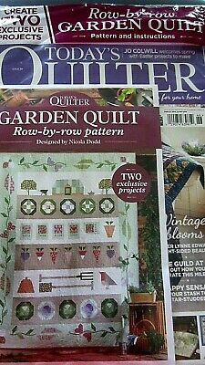 TODAY'S QUILTER MAGAZINE ISSUE 46 NEW SEALED  FREE GARDEN QUILT (Today's Take)