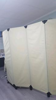 Cream room divider 14 panels,61cm + 206cm each panel $320