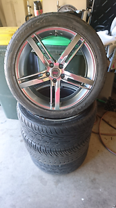 """18x7.5 5x100- Sell for $400 (negotiable) or Swap for 17"""" wheels Carrum Downs Frankston Area Preview"""