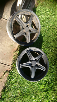 PAIR 4x114.3 17x7 +38 Performance wheels no tyres