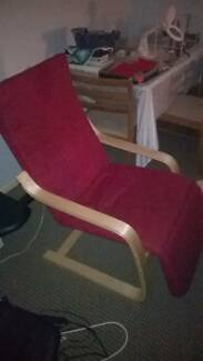 Ikea style arm chair with foot rest Nelson Bay Port Stephens Area Preview