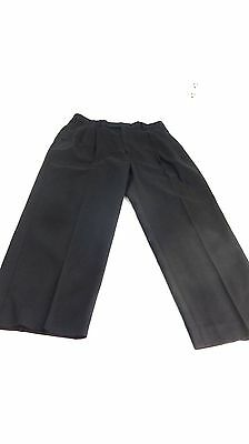 LOUIS RAPHAEL ROSSO RED MENS BLACK LUXURIOUS PLEATED DRESS PANTS 30 X 27