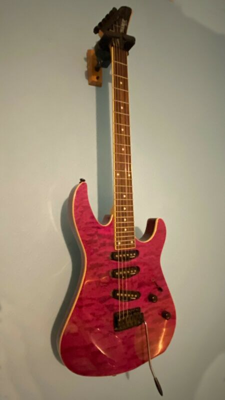 Hamer Californian 4 XT Series Electric Guitar Purple/Red/Pink 6 string