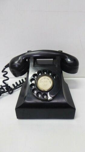 VINTAGE ART DECO TELEPHONE BLACK BAKELITE ROTARY DIAL PMG