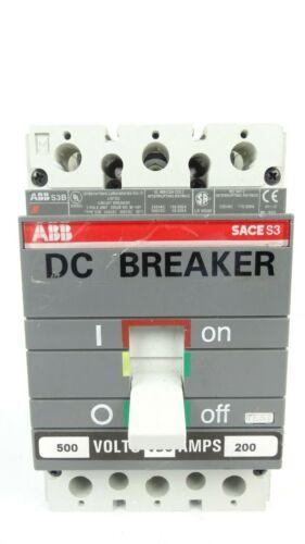 ABB S3N SACE S3 40 Amp Type HACR 3 Pole 40A Breaker 600V S3N040