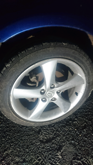 """MAZDA 6 OR 3 17 """" OR 16"""" ALLOY WHEELS GOOD TYRES $500"""