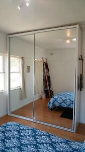 Mirror front wardrobe for sale!