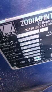 Zodiac inflatable boat 2m Manly Brisbane South East Preview