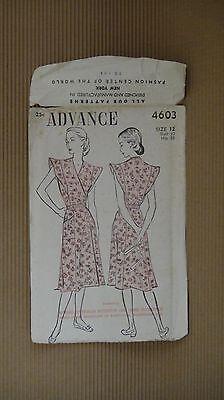 VINTAGE 1940' ADVANCE PATTERN #4603 SEWING MODEL WOMEN FASHION NEW YORK