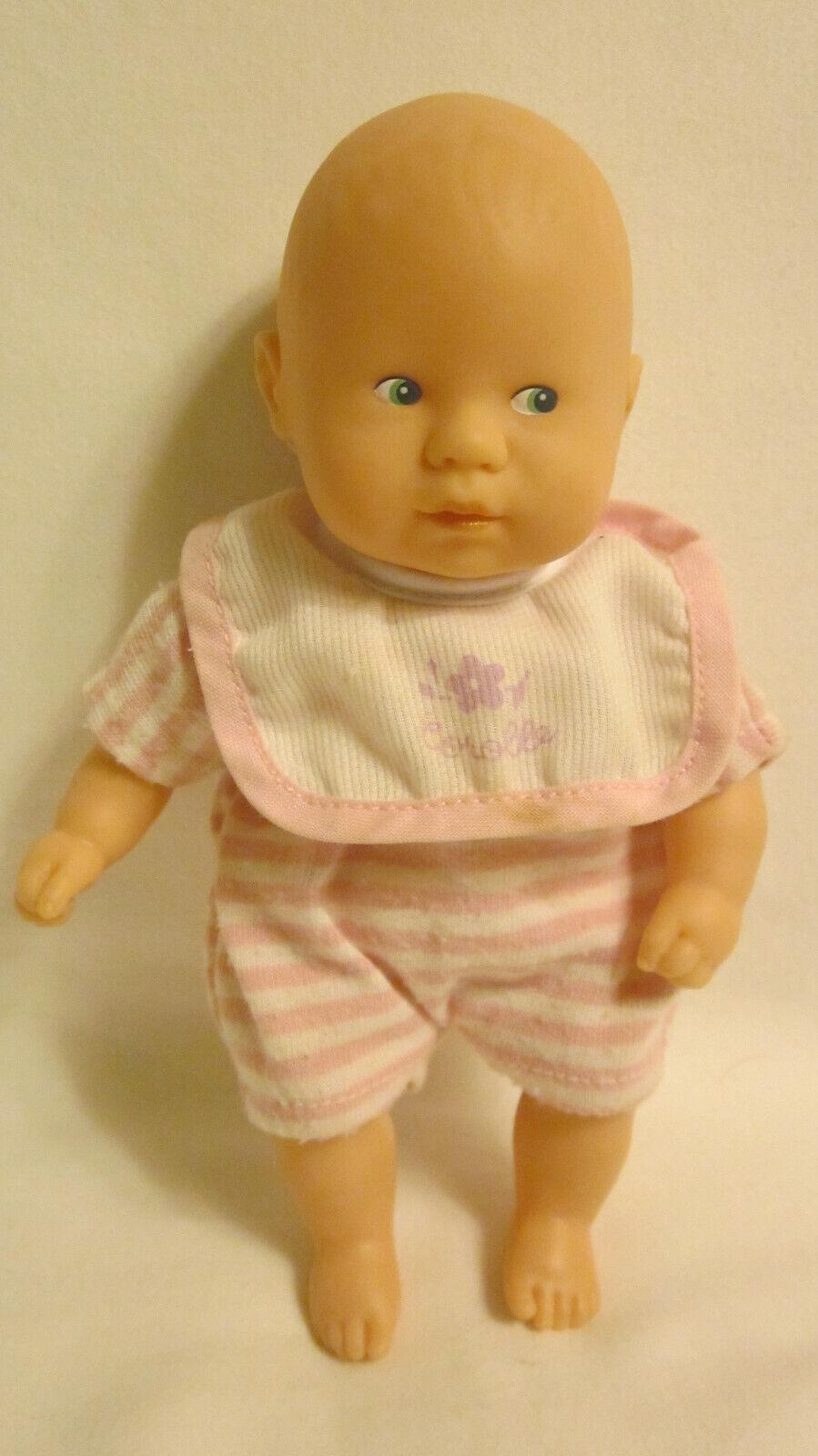 COROLLE MINI BABY DOLL, 8 , VINYL W/CLOTH BODY, BLOND, BLUE EYES, ORIG. ROMPER - $11.99