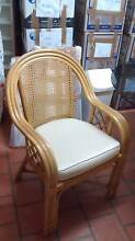 4 cane chairs and glass topped dining table Kippa-ring Redcliffe Area Preview