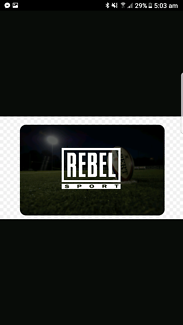 Rebel sports evoucher worth $150 selling very cheap  I can send y