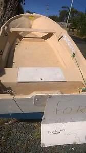 12 foot fiberglass dingy and trailer Primrose Sands Sorell Area Preview