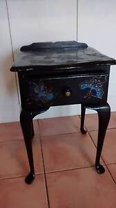 BLACK BEDSIDE TABLE WITH BUTTERFLY MOTIF Paddington Brisbane North West Preview